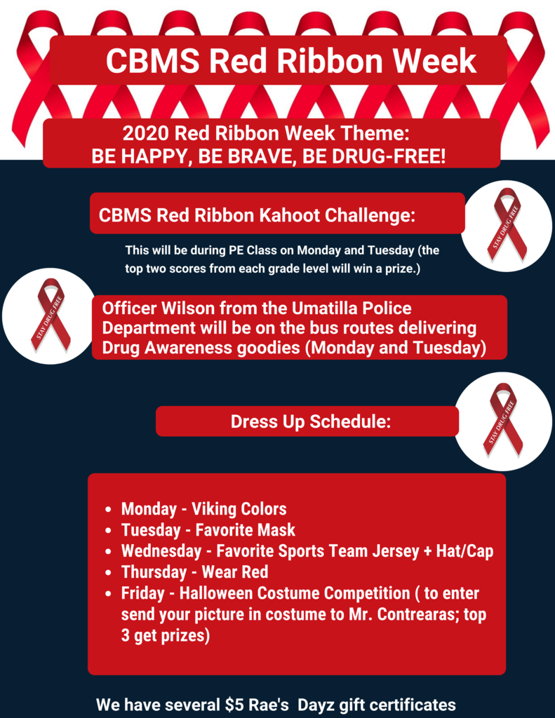 Red Ribbon Week Flyer English