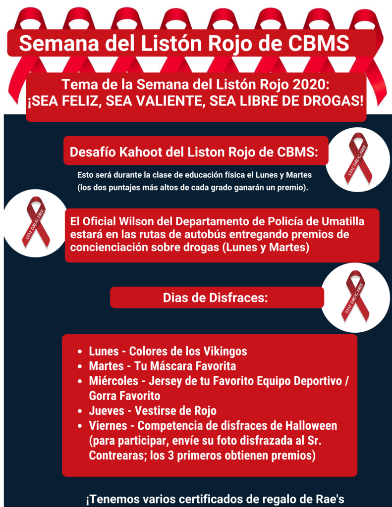 Red Ribbon Week Flyer Spanish