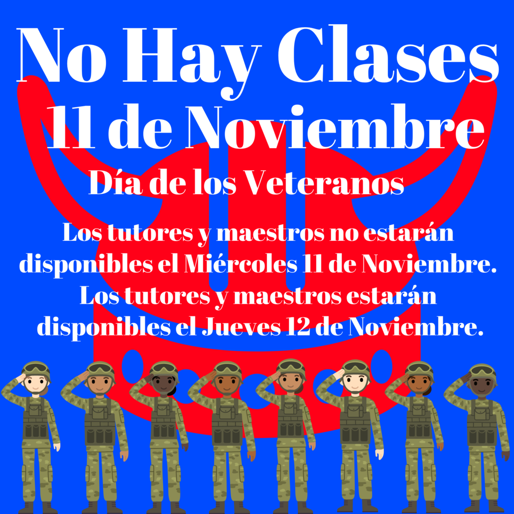 Veteran's Day Spanish Flyer