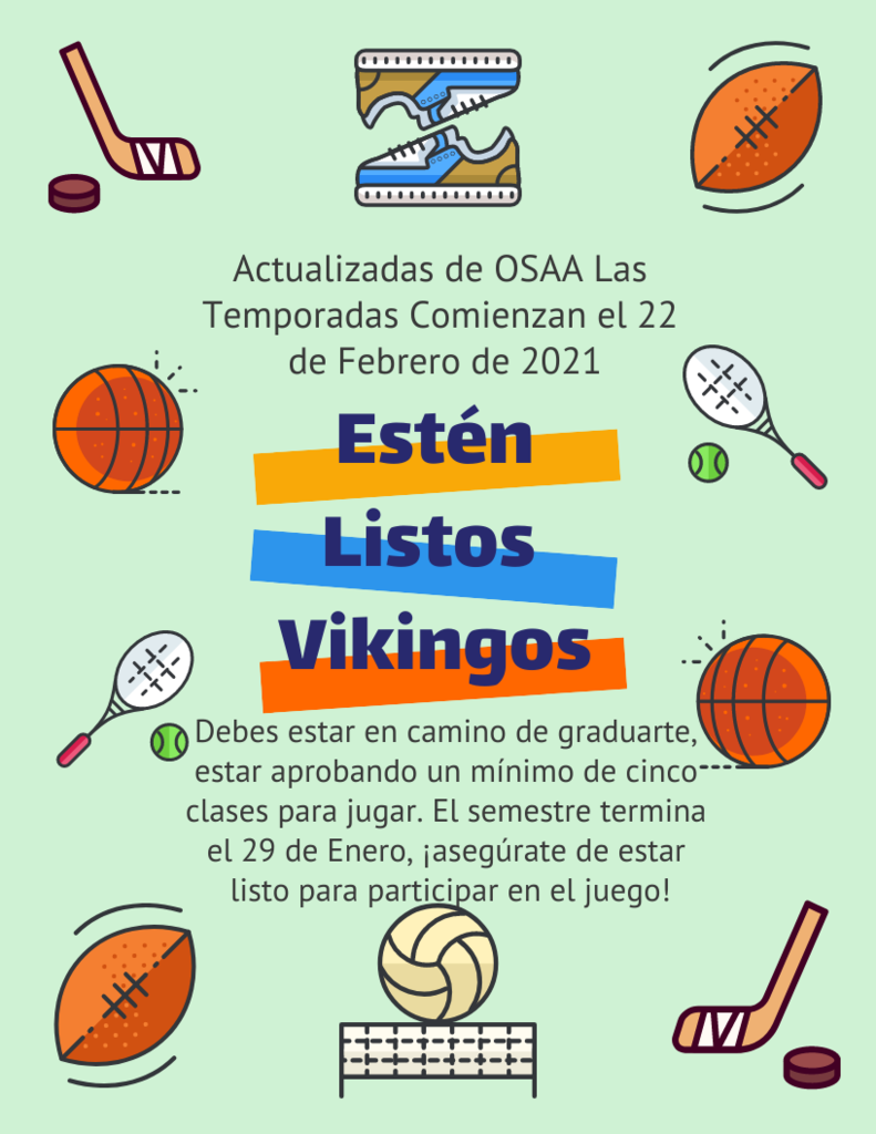 Spanish OSAA  Sports Update