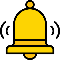yellow ringing bell