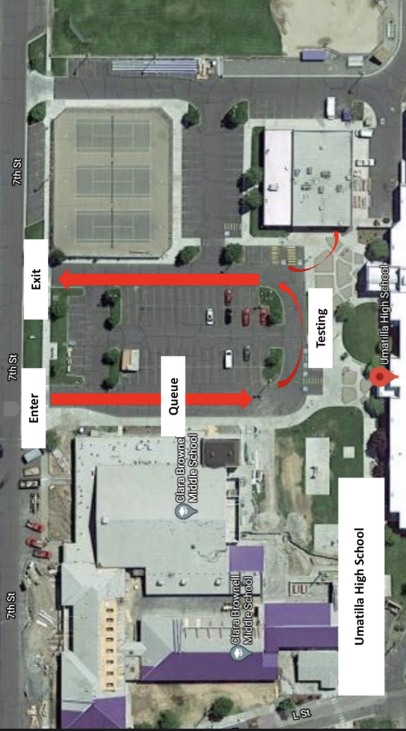 Map Of Umatilla High School Parking lot