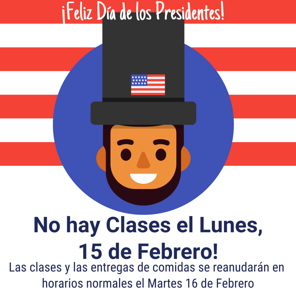 Spanish No School Presidents Day Flyer
